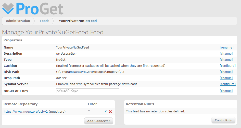 ProGet NuGet Feed Configuration