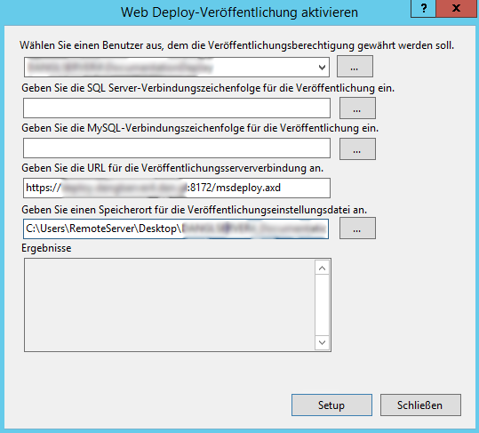 Web Deploy Activation Dialog