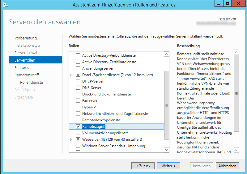 Windows Server 2012 - Install Remote Access Role