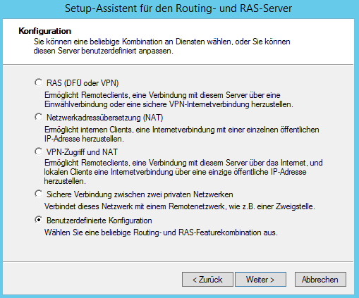 Windows Server - Configure Routing and RAS Setup Wizard