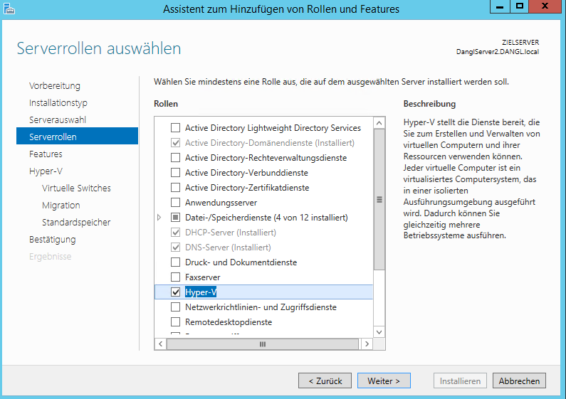Windows Server 2012 R2 - Install Hyper-V Role