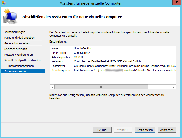 Provision a Virtual Machine in Hyper-V